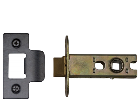 Heritage Brass 'Heavy Duty' 2.5, 3, 4, OR 5 Inch Tubular Latches, Black - YKAL-BLK