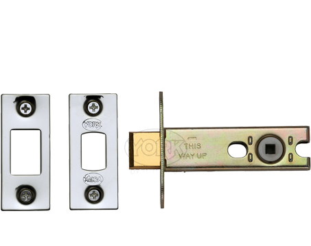Heritage Brass 3 OR 4 Inch Tubular Bathroom Deadbolts, Polished Chrome / Polished Nickel - YKBDB-PC&PN