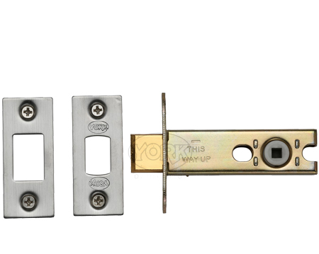 Heritage Brass 3 OR 4 Inch Tubular Bathroom Deadbolts, Satin Nickel / Satin Chrome - YKBDB-SN&SC