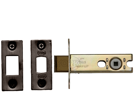 Heritage Brass 3 OR 4 Inch Tubular Bathroom Deadbolts, Matt Bronze - YKBDB-MB
