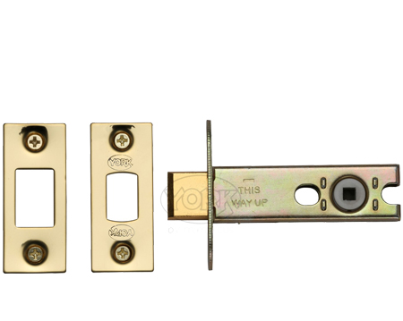 Heritage Brass 3 OR 4 Inch Tubular Bathroom Deadbolts, Polished Brass - YKBDB-PB
