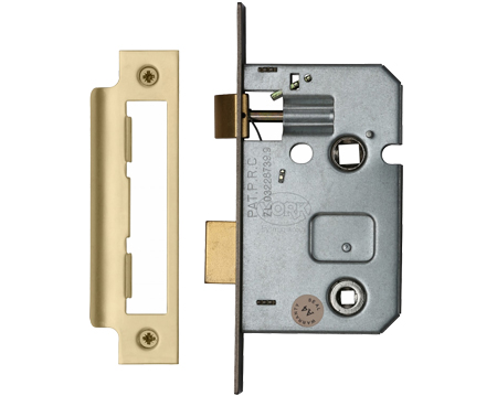 Heritage Brass 2.5 Inch Or 3 Inch Bathroom Locks (Bolt Through), Satin Brass - YKBL-SB