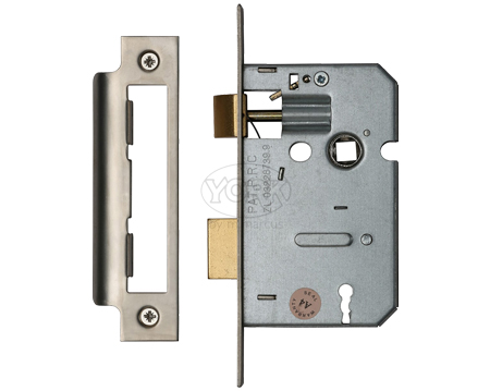 Heritage Brass 3 Lever Sash Locks (Bolt Through), Satin Nickel / Satin Chrome - YKSL-SN&SC