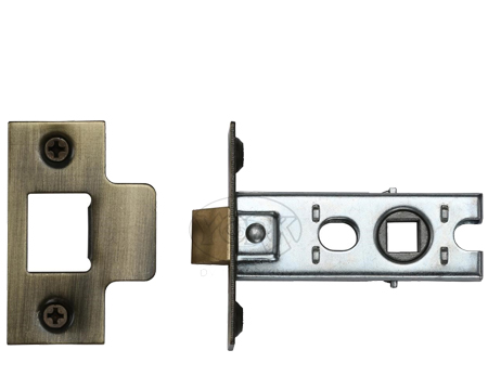 Heritage Brass 'Standard Duty' 2.5 Inch Or 3 Inch Tubular Latches (Bolt Through), Antique Brass - YKTL-AT