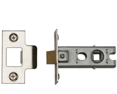 Heritage Brass 'Standard Duty' 2.5 Inch Or 3 Inch Tubular Latches (Bolt Through), Polished Chrome / Polished Nickel - YKTL-PC&PN