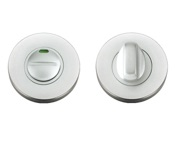 Zoo Hardware Architectural Aluminium Turn & Release With Indicator, Satin Aluminium - ZAA004ISA