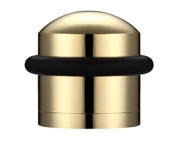 Zoo Hardware Domed Floor Mounted Door Stop, Polished Brass - ZAB86