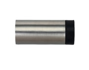 Zoo Hardware ZAS Cylinder Door Stop Without Rose (70mm Length - 30mm Diameter), Satin Stainless Steel - ZAS11SS
