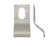 Zoo Hardware ZAS Cylinder Latch Pull Oval Profile (88mm x 43mm), Satin Stainless Steel - ZAS17SS