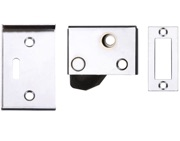 Zoo Hardware ZAS Hush Latch (64mm x 40mm), Powder Coated White - ZAS21PCW