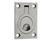 Zoo Hardware ZAS Flush Ring Pulls (44mm x 62mm OR 38mm x 48mm), Satin Stainless Steel - ZAS42SS