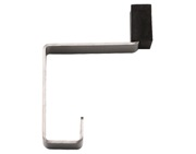 Zoo Hardware ZAS Hat & Coat Hook With Rubber Buffer, Satin Stainless Steel - ZAS77SS