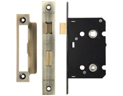 Zoo Hardware Contract Bathroom Lock (64mm OR 76mm), Florentine Bronze - ZBC64FB