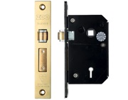 Zoo Hardware British Standard 5 Lever Chubb Retro-Fit Roller Sash Lock (67mm OR 80mm), PVD Stainless Brass - ZBSCS67PVD