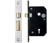 Zoo Hardware British Standard 5 Lever Chubb Retro-Fit Roller Sash Lock (67mm OR 80mm), Satin Stainless Steel - ZBSCS67SS