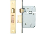 Zoo Hardware British Standard 5 Lever Sash Lock (64mm OR 76mm), PVD Stainless Brass - ZBSS64PVD