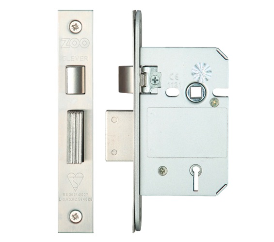 "5 Lever British Standard Mortice Door Sash Lock Sashlock 3 /"" 76mm Brass ZBSS"