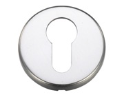 Zoo Hardware Contract Aluminium Euro Profile Escutcheon, Satin Aluminium - ZCA001SA