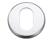 Zoo Hardware Contract Aluminium Oval Profile Escutcheon, Satin Aluminium - ZCA003SA