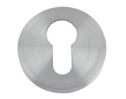 Zoo Hardware ZCS Architectural Euro Profile Escutcheon, Satin Stainless Steel - ZCS001SS