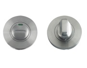 Zoo Hardware ZCS Architectural Bathroom Turn & Release With Indicator, Satin Stainless Steel - ZCS004ISS