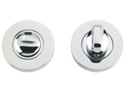Zoo Hardware ZCS Architectural Bathroom Turn & Release With Indicator, Polished Stainless Steel - ZCS004IPS