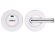 Zoo Hardware ZGS Disabled Bathroom Turn & Release With Indicator, Polished Stainless Steel - ZCS006IPS