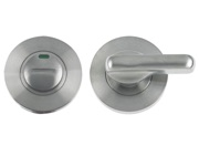 Zoo Hardware ZGS Disabled Bathroom Turn & Release With Indicator, Satin Stainless Steel - ZCS006ISS