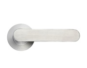 Zoo Hardware ZCS Architectural Atlas Lever On Round Rose, Satin Stainless Steel - ZCS090SS (sold in pairs)