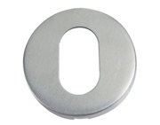 Zoo Hardware ZCS2 Oval Profile Escutcheon, Satin Stainless Steel - ZCS2003SS