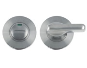 Zoo Hardware ZCS2 Contract Disabled Bathroom Turn & Release With Indicator, Satin Stainless Steel - ZCS2006ISS