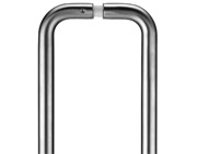 Zoo Hardware ZCS2D Contract Back To Back Pull Handles (19mm Bar Diameter), Satin Stainless Steel - ZCS2D225BSBB