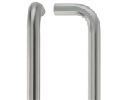 Zoo Hardware ZCS2 Contract D Pull Handles (19mm or 22mm Bar Diameter), Satin Stainless Steel - ZCS2D150BS
