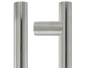 Zoo Hardware ZCS2G Contract Guardsman Pull Handle (30mm Bar Diameter), Satin Stainless Steel - ZCS2G600ES