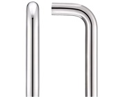 Zoo Hardware ZCSD Architectural D Pull Handle (19mm Bar Diameter), Polished Stainless Steel - ZCSD150BP