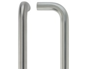 Zoo Hardware ZCSD Architectural D Pull Handle (19mm OR 21mm Bar Diameter), Satin Stainless Steel - ZCSD150BS