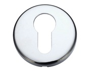 Zoo Hardware Stanza Contract Euro Profile Escutcheon, Polished Chrome - ZCZ001CP