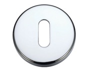 Zoo Hardware Stanza Contract Standard Profile Escutcheon, Polished Chrome - ZCZ002CP