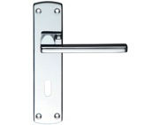 Zoo Hardware Stanza Leon Contract Door Handles On Backplate, Polished Chrome - ZCZ011CP (sold in pairs)