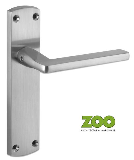 39 leon 39 satin chrome door handles zcz011sc sold in pairs