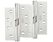 Zoo Hardware 4 Inch Grade 201 Rising Butt Hinge, Satin Stainless Steel - ZHRB243S (sold in pairs)