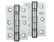 Zoo Hardware 3 Inch Steel Ball Bearing Door Hinges, Polished Chrome - ZHS32CP (sold in pairs)