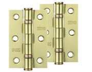Zoo Hardware 3 Inch Steel Ball Bearing Door Hinges, Electro Brass - ZHS32EB (sold in pairs)