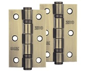 Zoo Hardware 3 Inch Steel Ball Bearing Door Hinges, Florentine Bronze - ZHS32FB (sold in pairs)