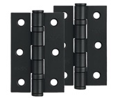 Zoo Hardware 3 Inch Steel Ball Bearing Door Hinges, Powder Coated Black - ZHS32PCB (sold in pairs)
