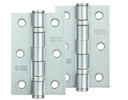 Zoo Hardware 3 Inch Steel Ball Bearing Door Hinges, Satin Chrome - ZHS32SC (sold in pairs)