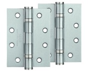 Zoo Hardware 4 Inch Steel Ball Bearing Door Hinges, Satin Chrome - ZHS43SC (sold in pairs)