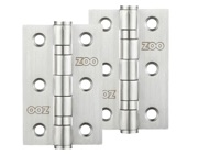 Zoo Hardware 3 Inch Grade 201 Hinge, Satin Stainless Steel - ZHSS232S (sold in pairs)