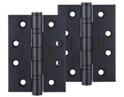 Zoo Hardware 4 Inch Grade 13 Ball Bearing Hinge, Powder Coated Black - ZHSS243PCB (sold in pairs)