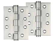 Zoo Hardware 4 Inch Grade 13 Ball Bearing Hinge, Polished Stainless Steel - ZHSS243PS (sold in pairs)